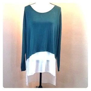 A.N.A. Large Women's Crew Neck Blouse